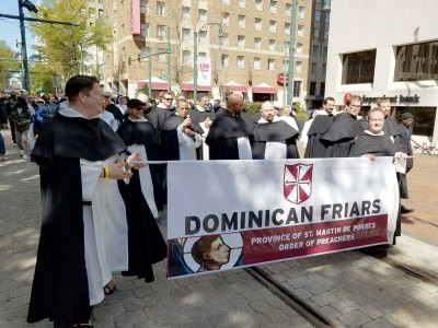 Dominicans marching on Martin Luther King day in Memphis
