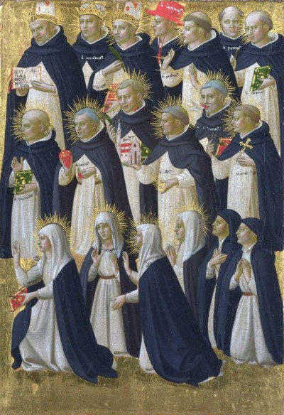 Dominicans from the altarpiece of San Domenico, Fiesole, by Fra Angelico