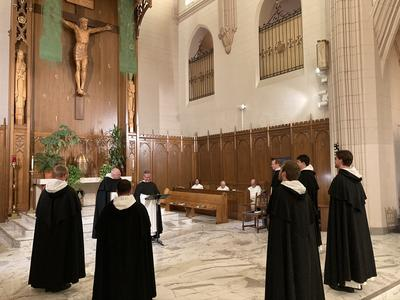 New friars receive the habit of St. Dominic